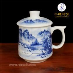景德镇手绘陶瓷茶杯定制  手绘陶瓷茶杯生产