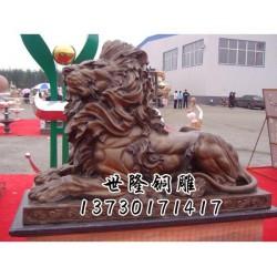 上海铜狮子|世隆铜雕塑|仿古铜狮子