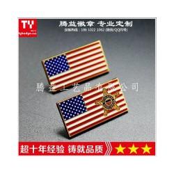 美国国旗徽章-中国美国交叉国旗胸章-美国国旗胸针供应
