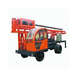 定做高速公路护栏打桩机 小型液压打桩机 铲车式护栏打桩机