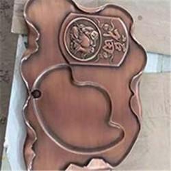 不锈钢茶几定做 雕刻花纹 客厅大堂