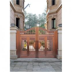 沁阳市庭院铜大门(电动铜门)价格低-品质