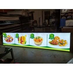 饭店食物展示用灯箱  软膜灯箱如何安装
