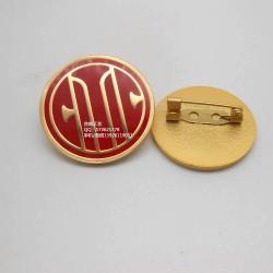 中信银行徽章、员工佩戴胸牌、金属LOGO胸针、年会襟章制作