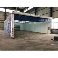 移动伸缩喷漆房10米20米30米报价