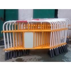 上海塑料铁马栏杆 核电站PVC绝缘护栏 化工厂铁马护栏
