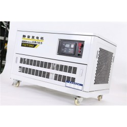 施工队用10kw静音汽油发电机380v