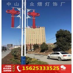 路灯杆装饰led平面灯笼 户外广告印字led扁灯笼
