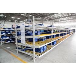 苏州鑫辉滑移式货架生产厂家 流利条货架生产批发仓储货架