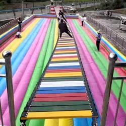 运城移动网红桥活动道具锻炼人们的稳定性 山东三喜