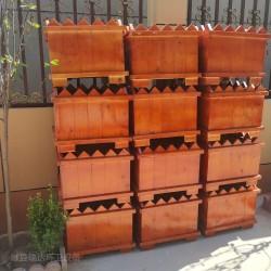 献县瑞达简约户外商业街道花箱碳化实木花盆