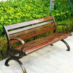 供应献县瑞达景观园林塑木防腐木靠背座椅
