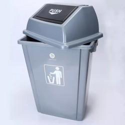 献县瑞达环卫塑料摇盖垃圾桶 厂家定制批发