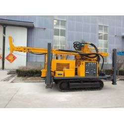 钻机厂家供应400米履带气动钻机 一天一口井的气动钻岩机